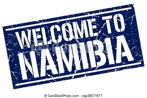 welcome to Namibia stamp - csp39571671