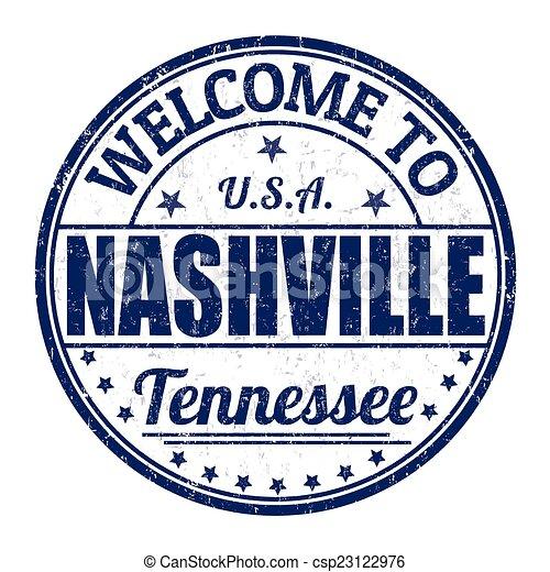 Welcome to Nashville stamp - csp23122976