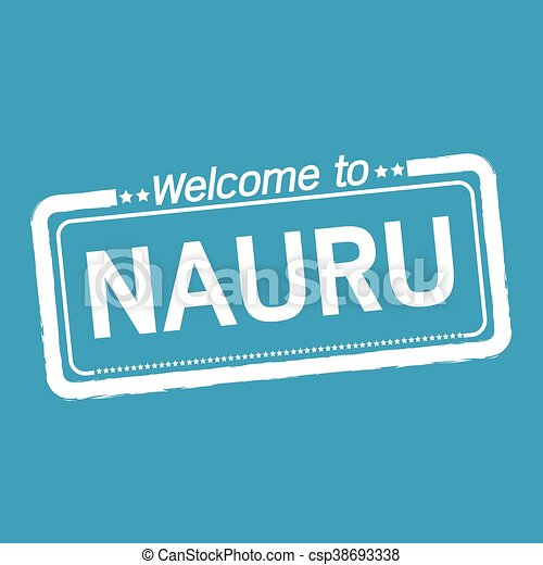 Welcome to NAURU illustration design - csp38693338