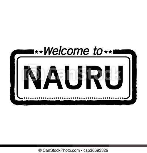 Welcome to NAURU illustration design - csp38693329