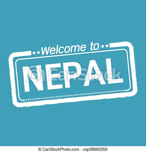 Welcome to NEPAL illustration design - csp38693350