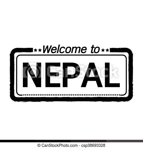 Welcome to NEPAL illustration design - csp38693328