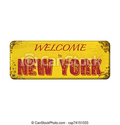 Welcome to New York board - csp74151033