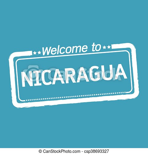 Welcome to NICARAGUA illustration design - csp38693327