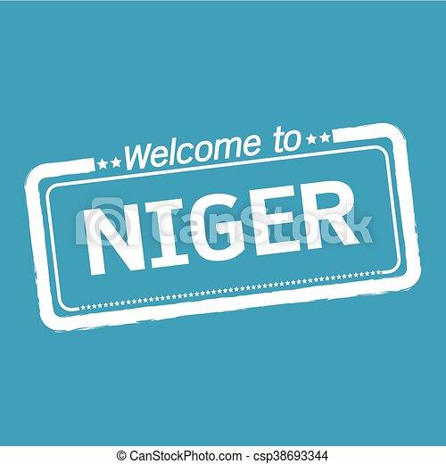 Welcome to NIGER illustration design - csp38693344