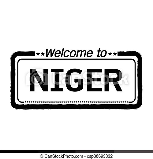 Welcome to NIGER illustration design - csp38693332