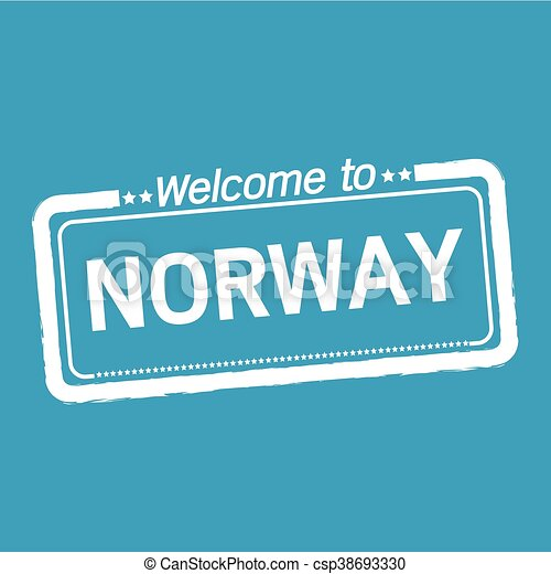 Welcome to NORWAY illustration design - csp38693330