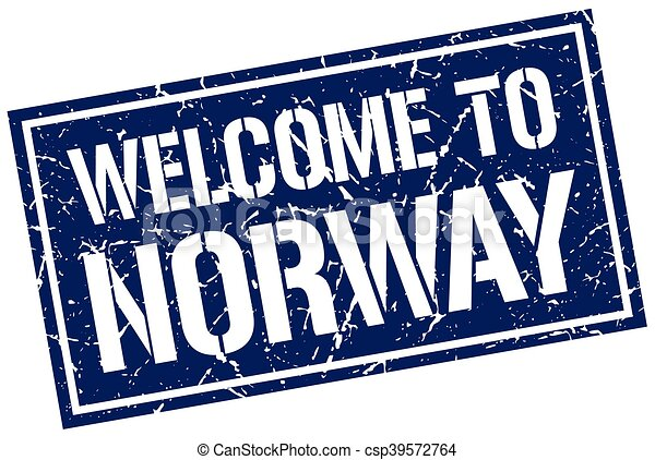 welcome to Norway stamp - csp39572764