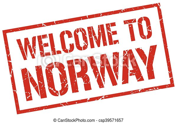 welcome to Norway stamp - csp39571657