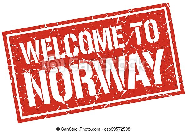 welcome to Norway stamp - csp39572598