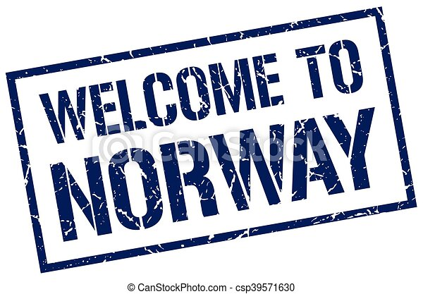 welcome to Norway stamp - csp39571630