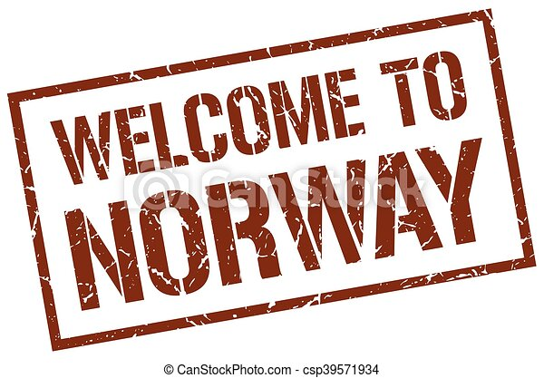 welcome to Norway stamp - csp39571934