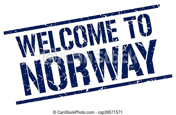 welcome to Norway stamp - csp39571571
