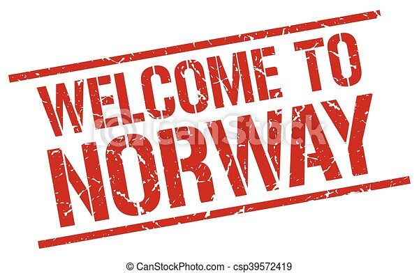 welcome to Norway stamp - csp39572419