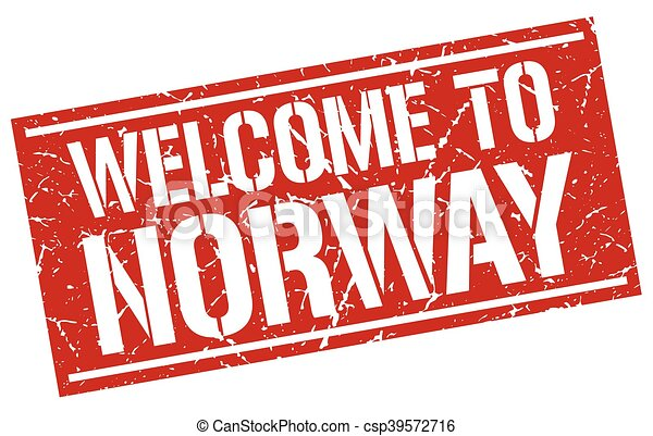 welcome to Norway stamp - csp39572716