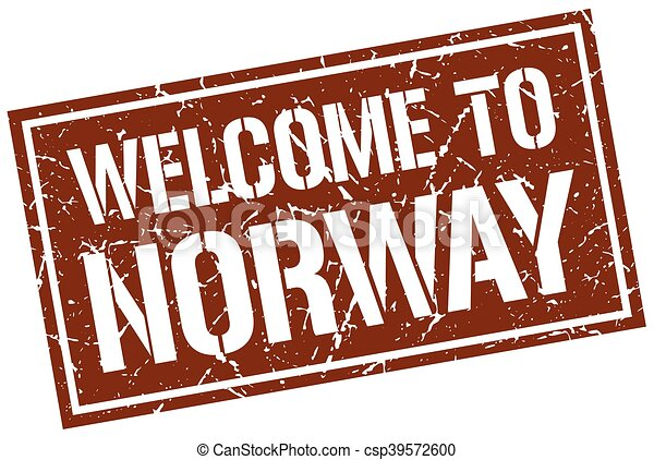 welcome to Norway stamp - csp39572600