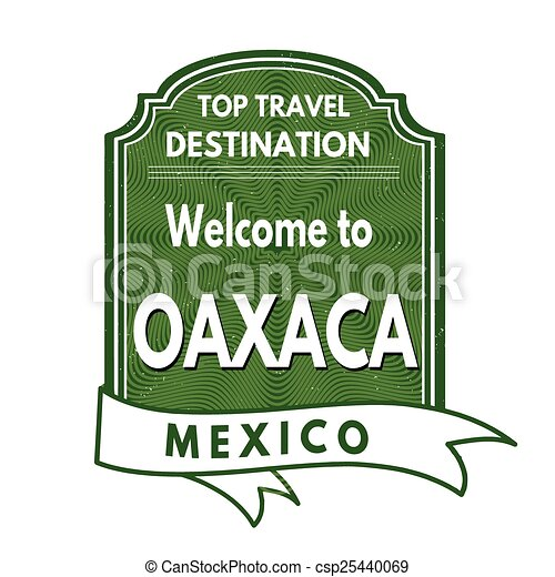Welcome to Oaxaca stamp - csp25440069