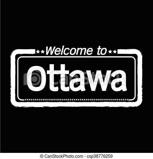 Welcome to Ottawa city illustration design - csp38776259