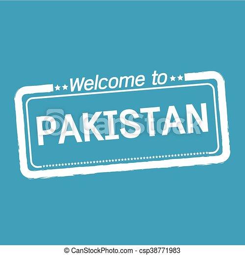 Welcome to PAKISTAN illustration design - csp38771983