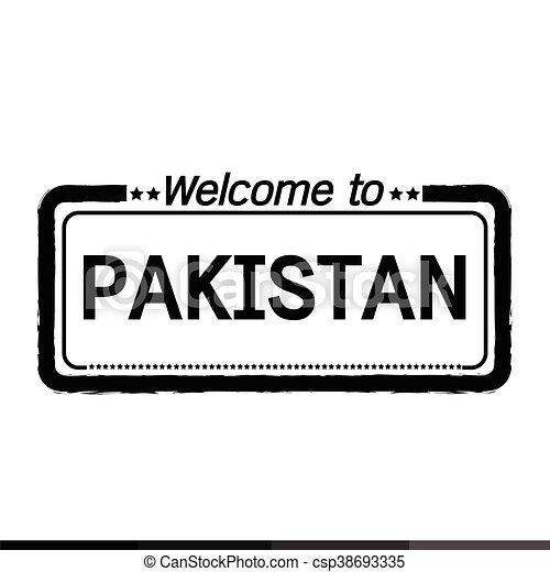 Welcome to PAKISTAN illustration design - csp38693335