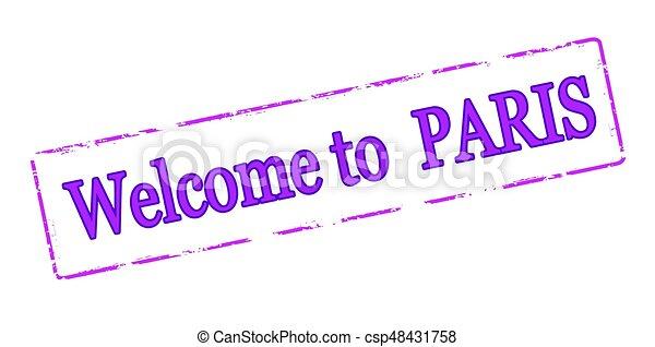 Welcome to Paris - csp48431758
