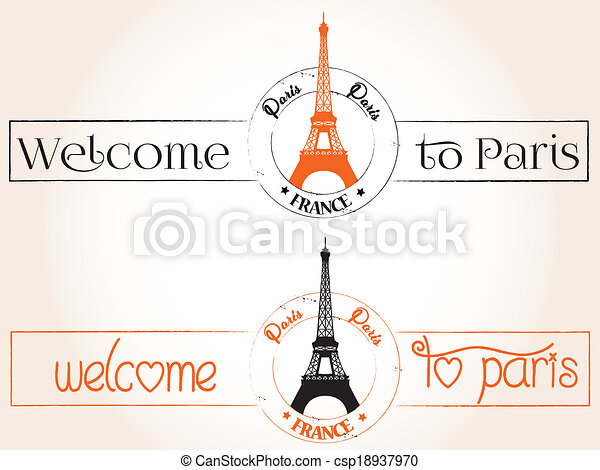 Welcome to Paris - csp18937970