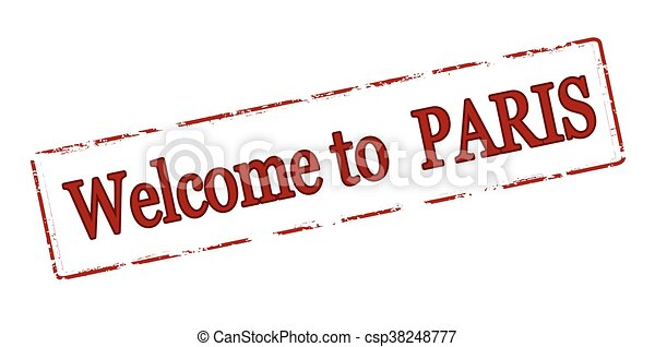 Welcome to Paris - csp38248777
