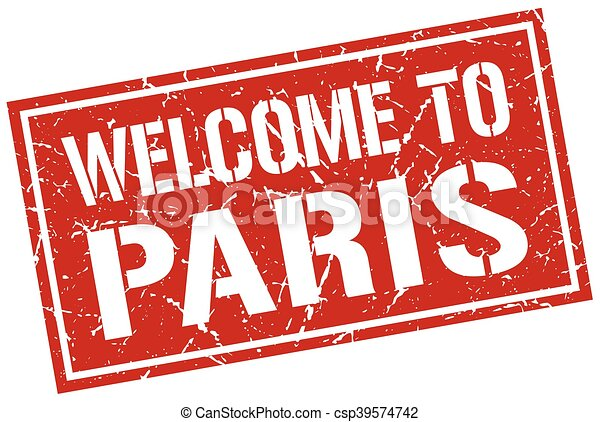 welcome to Paris stamp - csp39574742