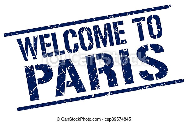 welcome to Paris stamp - csp39574845