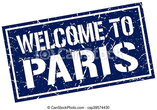 welcome to Paris stamp - csp39574430