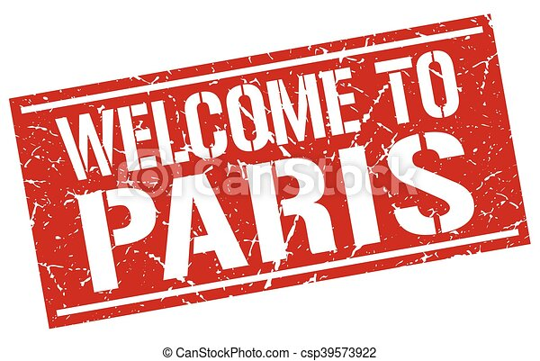 welcome to Paris stamp - csp39573922