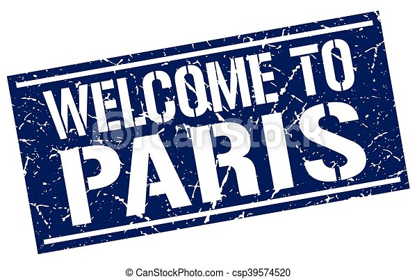 welcome to Paris stamp - csp39574520