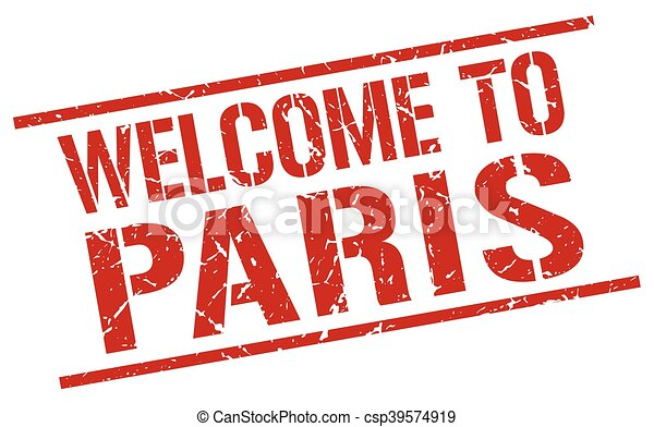 welcome to Paris stamp - csp39574919