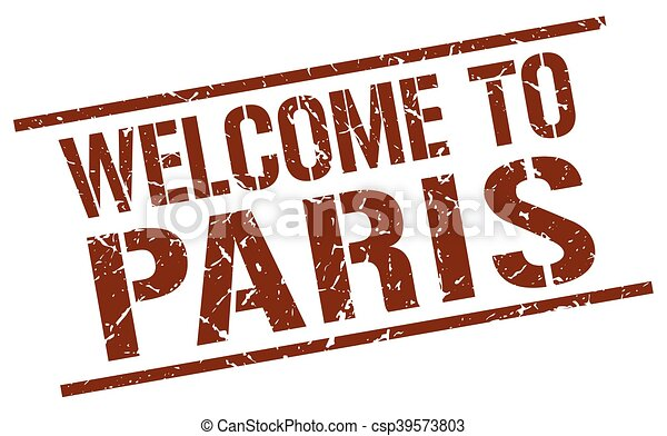 welcome to Paris stamp - csp39573803