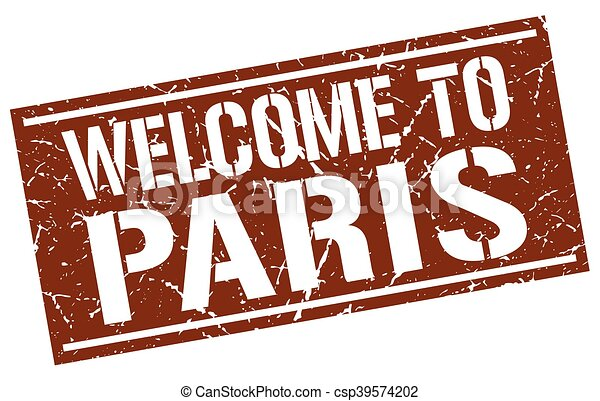 welcome to Paris stamp - csp39574202