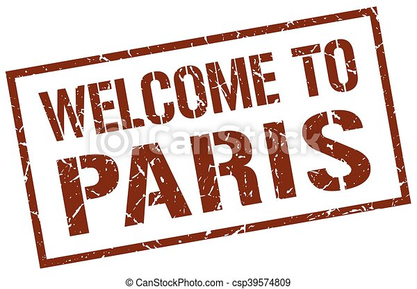 welcome to Paris stamp - csp39574809