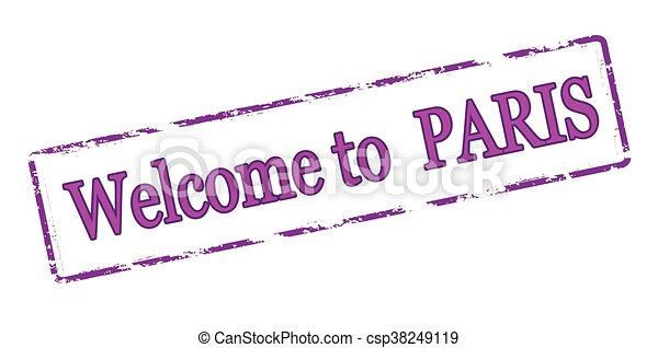 Welcome to Paris - csp38249119