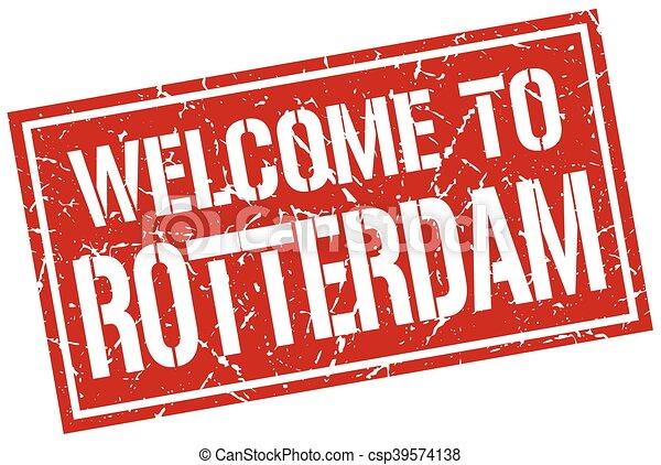 welcome to Rotterdam stamp - csp39574138