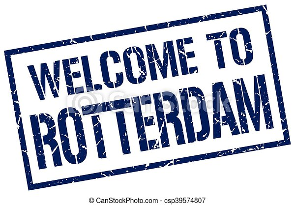 welcome to Rotterdam stamp - csp39574807