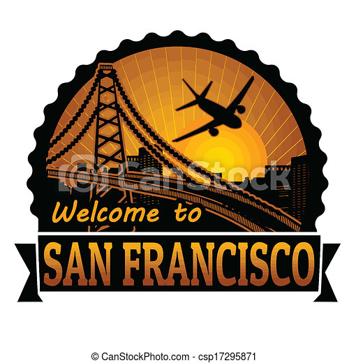 Welcome to San Francisco label or stamp - csp17295871
