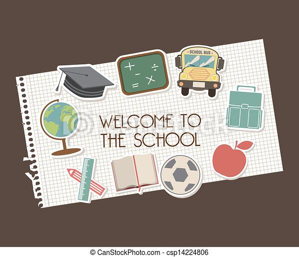 welcome to school - csp14224806