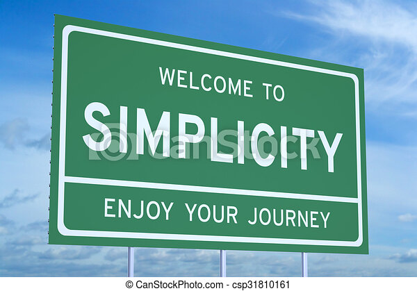 Welcome to Simplicity concept - csp31810161