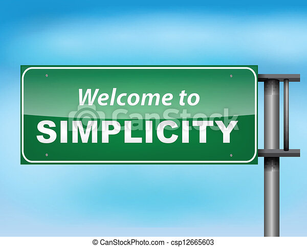 Welcome to simplicity highway sign concept - csp12665603