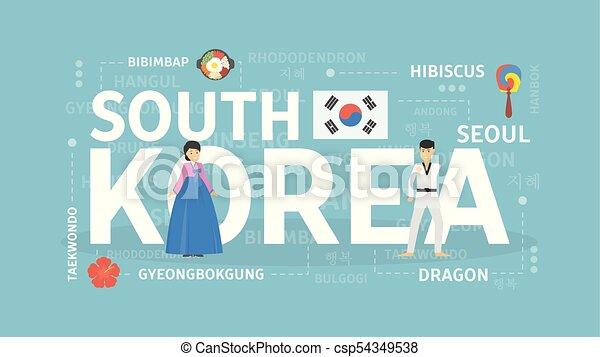 Welcome to South Korea. - csp54349538