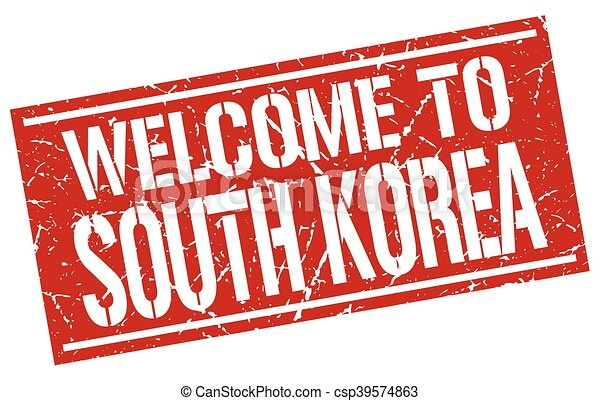 welcome to South Korea stamp - csp39574863