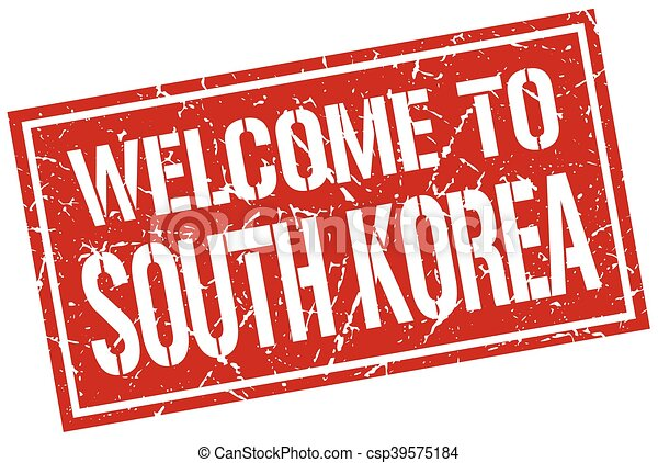 welcome to South Korea stamp - csp39575184