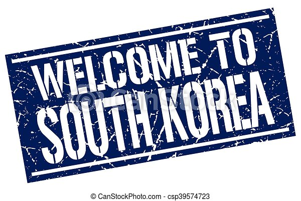 welcome to South Korea stamp - csp39574723