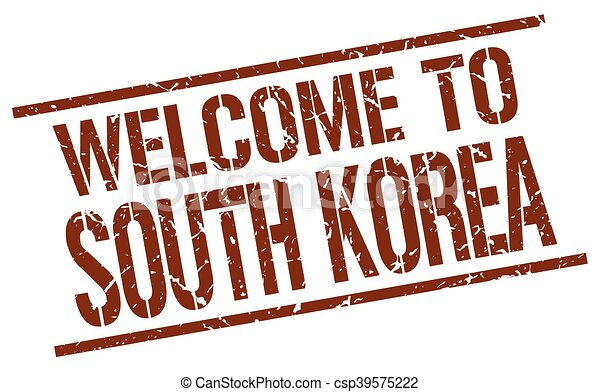 welcome to South Korea stamp - csp39575222