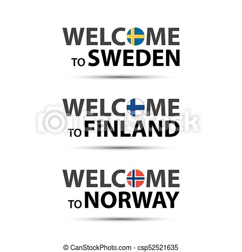 Welcome To To Norway Scandinavian Symbols Cet Welcome To To Norway