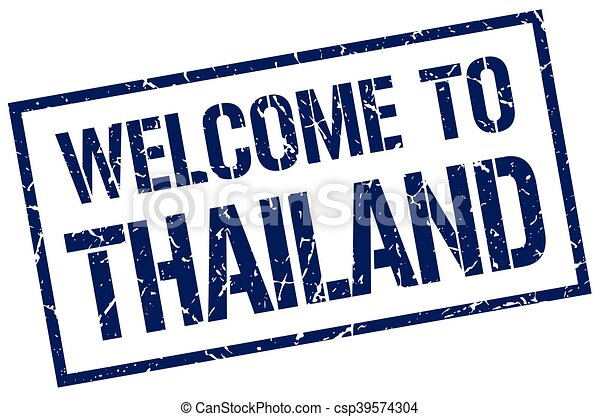 welcome to Thailand stamp - csp39574304
